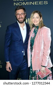 LOS ANGELES - JAN 5:  Dave Holstein, Judy Greer at the Showtime Golden Globe Nominees Celebration at the Sunset Tower Hotel on January 5, 2019 in West Hollywood, CA