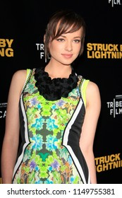 """LOS ANGELES - JAN 6:  Ashley Rickards  at the """"Struck by Lightening"""" Premiere at the Chinese Cinema 6 Theaters on January 6, 2013 in Los Angeles, CA"""