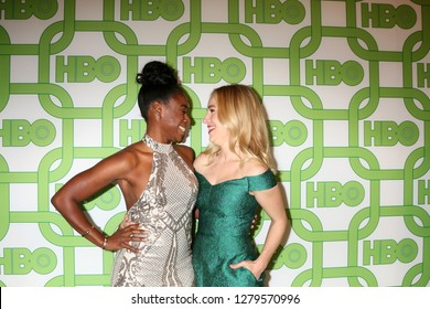 LOS ANGELES - JAN 6:  Kirby Howell-Baptiste, Sarah Goldberg at the 2019 HBO Post Golden Globe Party at the Beverly Hilton Hotel on January 6, 2019 in Beverly Hills, CA