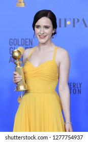 LOS ANGELES - JAN 6:  Rachel Brosnahan at the 2019 Golden Globe Awards - Press Room at the Beverly Hilton Hotel on January 6, 2019 in Beverly Hills, CA