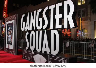 LOS ANGELES - JAN 7: Atmosphere at Warner Bros. Pictures' 'Gangster Squad' premiere at Grauman's Chinese Theater on January 7, 2013 in Los Angeles, California