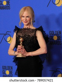 LOS ANGELES - JAN 7:  Nicole Kidman at the 75th  Golden Globes Press Room at Beverly Hilton Hotel on January 7, 2018 in Beverly Hills, CA
