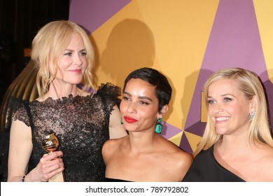 LOS ANGELES - JAN 7:  Nicole Kidman, Zoe Kravitz, Reese Witherspoon at the HBO Post Golden Globe Party 2018 at Beverly Hilton Hotel on January 7, 2018 in Beverly Hills, CA