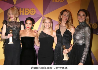 LOS ANGELES - JAN 7:  Nicole Kidman, Zoe Kravitz, Reese Witherspoon, Laura Dern, Shailene Woodley at the HBO Golden Globe Party 2018 at Beverly Hilton Hotel on January 7, 2018 in Beverly Hills, CA