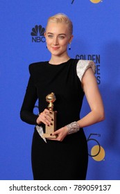 LOS ANGELES - JAN 7:  Saoirse Ronan at the 75th  Golden Globes Press Room at Beverly Hilton Hotel on January 7, 2018 in Beverly Hills, CA