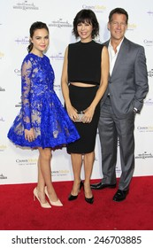 LOS ANGELES - JAN 8: Bailee Madison, Catherine Bell, James Denton at the TCA Winter 2015 Event For Hallmark Channel + Hallmark Movies & Mysteries at Tournament House on January 8, 2015 in Pasadena, CA