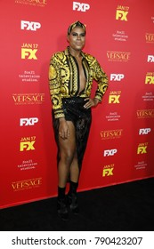 "LOS ANGELES - JAN 8:  EJ Johnson at the ""The Assassination of Gianni Versace: American Crime Story"" Premiere Screening at the ArcLight Theater on January 8, 2018 in Los Angeles, CA"