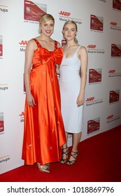 LOS ANGELES - JAN 8:  Greta Gerwig, Saoirse Ronan at the AARP's 17th Annual Movies For Grownups Awards at Beverly Wilshire Hotel on January 8, 2018 in Beverly Hills, CA