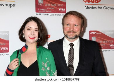 LOS ANGELES - JAN 8:  Karina Longworth, Rian Johnson at the AARP's 17th Annual Movies For Grownups Awards at Beverly Wilshire Hotel on January 8, 2018 in Beverly Hills, CA