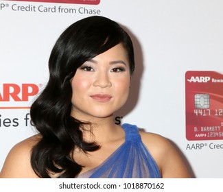 LOS ANGELES - JAN 8:  Kelly Marie Tran at the AARP's 17th Annual Movies For Grownups Awards at Beverly Wilshire Hotel on January 8, 2018 in Beverly Hills, CA