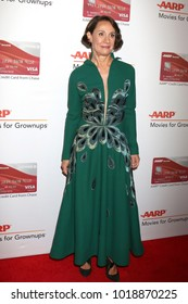 LOS ANGELES - JAN 8:  Laurie Metcalf at the AARP's 17th Annual Movies For Grownups Awards at Beverly Wilshire Hotel on January 8, 2018 in Beverly Hills, CA