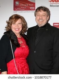 LOS ANGELES - JAN 8:  Marilou York, Mark Hamill at the AARP's 17th Annual Movies For Grownups Awards at Beverly Wilshire Hotel on January 8, 2018 in Beverly Hills, CA