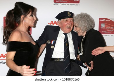 LOS ANGELES - JAN 8:  Molly Bloom, Ken Sturdy, Guest at the AARP's 17th Annual Movies For Grownups Awards at Beverly Wilshire Hotel on January 8, 2018 in Beverly Hills, CA