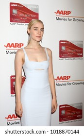 LOS ANGELES - JAN 8:  Saoirse Ronan at the AARP's 17th Annual Movies For Grownups Awards at Beverly Wilshire Hotel on January 8, 2018 in Beverly Hills, CA