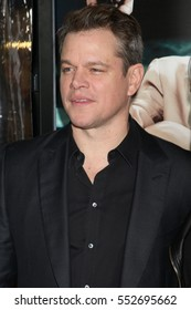 """LOS ANGELES - JAN 9:  Matt Damon at the """"Live By Night"""" Premiere at TCL Chinese Theater IMAX on January 9, 2017 in Los Angeles, CA"""