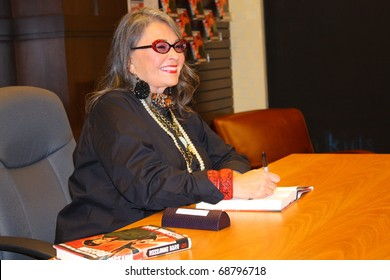 """LOS ANGELES - JANUARY 10: Comedian Roseanne Barr at book signing for her autobiography """"Roseannearchy"""" at The Grove on January 10, 2011 in Los Angeles. CA."""