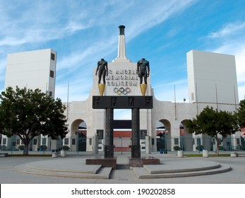 LOS ANGELES - JANUARY 21: Memorial Coliseum is site of many landmark events including two summer Olympics the latest 1984. building became obsolete due to safety issues. January 21, 2014, Los Angeles