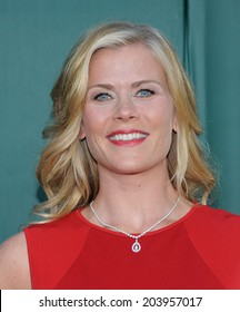 "LOS ANGELES - JUL 08:  Alison Sweeney arrives to the Hallmark's ""Northpole Christmas Celebration""  on July 08, 2014 in Beverly Hills, CA"