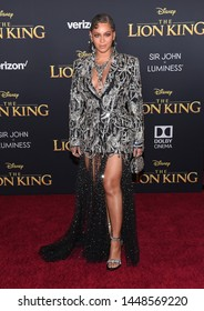 LOS ANGELES - JUL 09:  Beyonce Knowles arrives for Disney's 'The Lion King' World Premiere on July 09, 2019 in Hollywood, CA