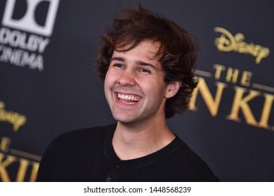 LOS ANGELES - JUL 09:  David Dobrik arrives for Disney's 'The Lion King' World Premiere on July 09, 2019 in Hollywood, CA