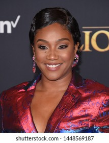 LOS ANGELES - JUL 09:  Tiffany Haddish arrives for Disney's 'The Lion King' World Premiere on July 09, 2019 in Hollywood, CA