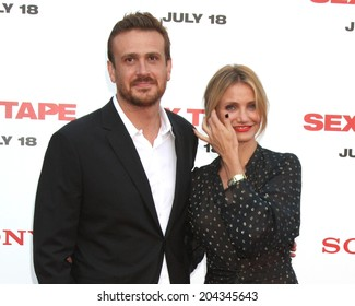 "LOS ANGELES - JUL 10:  Jason Segel, Cameron Diaz at the ""Sex Tape"" Premiere at the Village Theater on July 10, 2014 in Westwood, CA"