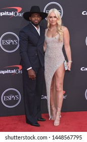 LOS ANGELES - JUL 10:  P.K. Subban and Lindsey Vonn arrives to ESPY Awards 2019  on July 10, 2019 in Hollywood, CA