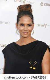 """LOS ANGELES - JUL 13:  Halle Berry arrives to """"The Final Pitch"""" from Chivas' The Venture  on July 13, 2017 in Los Angeles, CA"""