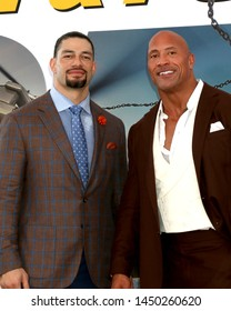 "LOS ANGELES - JUL 13:  Roman Reigns, Dwayne Johnson at the ""Fast & Furious Presents: Hobbs & Shaw"" Premiere at the Dolby Theater on July 13, 2019 in Los Angeles, CA"