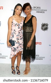 LOS ANGELES - JUL 17:  Sydni Scott, Kim Scott at the 4th Annual Sports Humanitarian Awards on The Novo on July 17, 2018 in Los Angeles, CA