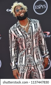 LOS ANGELES - JUL 18:  Odell Beckham Jr. arrives to the 2018 ESPY Awards  on July 18, 2018 in Hollywood, CA