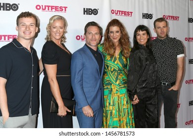 """LOS ANGELES - JUL 20:  Christopher Gray, Mandy Ward, Michael Doyle, Kate Walsh, Zoe Chao, Scot Evans at the 2019 Outfest Screening Of """"Sell By"""" at the Chinese Theater 6 on July 20, 2019 in Los Angeles"""