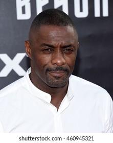 """LOS ANGELES - JUL 20:  Idris Elba arrives to the """"Star Trek Beyond"""" U.S. Premiere on July 20, 2016 in San Diego, CA"""