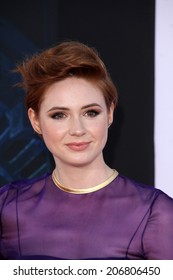 """LOS ANGELES - JUL 21:  Karen Gillan at the """"Guardians Of The Galaxy"""" Premiere at the Dolby Theater on July 21, 2014 in Los Angeles, CA"""