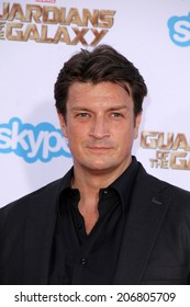 """LOS ANGELES - JUL 21:  Nathan Fillion at the """"Guardians Of The Galaxy"""" Premiere at the Dolby Theater on July 21, 2014 in Los Angeles, CA"""