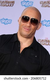 """LOS ANGELES - JUL 21:  Vin Diesel at the """"Guardians Of The Galaxy"""" Premiere at the Dolby Theater on July 21, 2014 in Los Angeles, CA"""