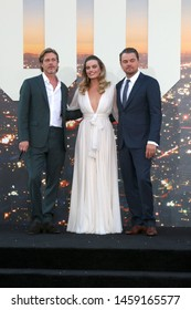 "LOS ANGELES - JUL 22:  Brad Pitt, Margot Robbie, Leonardo DiCaprio at the ""Once Upon a Time in Hollywood"" Premiere at the TCL Chinese Theater IMAX on July 22, 2019 in Los Angeles, CA"