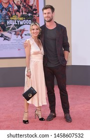 LOS ANGELES - JUL 22:  Elsa Pataky and Chris Hemsworth arrives for the 'Once Upon A Time In Hollywood' Los Angeles Premiere on July 22, 2019 in Hollywood, CA