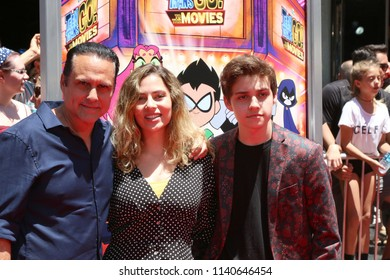"""LOS ANGELES - JUL 22:  Maurice Bernard, Paula Smith, Joshua Bernard at the """"Teen Titans Go! To the Movies"""" Premiere on the TCL Chinese Theater IMAX on July 22, 2018 in Los Angeles, CA"""