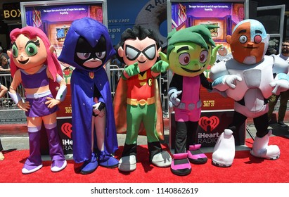 """LOS ANGELES - JUL 22:  Teen Titans arrives to the """"Teen Titans Go! To The Movies"""" Los Angeles Premiere  on July 22, 2018 in Hollywood, CA"""