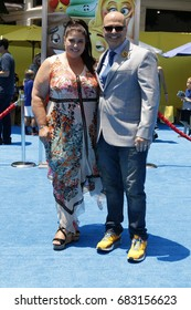 "LOS ANGELES - JUL 23:  Michelle Raimo, Tony Leondis at ""The Emoji Movie"" Premiere at the Village Theater on July 23, 2017 in Westwood, CA"