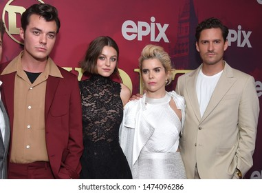 LOS ANGELES - JUL 24:  Jack Bannon, Emma Corrin, Paloma Faith and Ben Aldridge arrives for the Epix's 'Pennyworth' Los Angeles Premiere on July 24, 2019 in Hollywood, CA