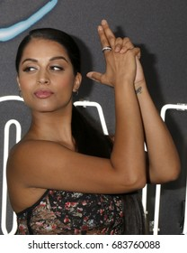 "LOS ANGELES - JUL 24:  Lilly Singh at the ""Atomic Blonde"" Los Angeles Premiere at The Theatre at Ace Hotel on July 24, 2017 in Los Angeles, CA"