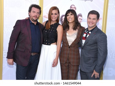 LOS ANGELES - JUL 25:  Danny McBride, Cassidy Freeman, Edi Patterson and Adam DeVine arrives for the HBO's 'The Righteous Gemstones' Los Angeles Premiere on July 25, 2019 in Hollywood, CA