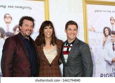 """LOS ANGELES - JUL 25:  Danny McBride, Edi Patterson, Adam DeVine at the """"The Righteous Gemstones"""" Premiere Screening at the Paramount Theater on July 25, 2019 in Los Angeles, CA"""