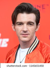 LOS ANGELES - JUL 25:  Drake Bell arrives to 'The Spy Who Dumped Me' Los Angeles Premiere  on July 25, 2018 in Hollywood, CA