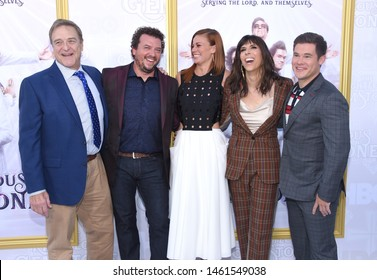 LOS ANGELES - JUL 25:  John Goodman, Danny McBride, Cassidy Freeman, Edi Patterson and Adam DeVine arrives for the HBO's 'The Righteous Gemstones' Los Angeles Premiere on July 25, 2019 Hollywood, CA
