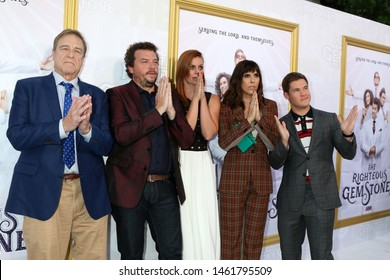 """LOS ANGELES - JUL 25:  John Goodman, Danny McBride, Cassidy Freeman, Edi Patterson, Adam DeVine at the """"The Righteous Gemstones"""" Premiere at the Paramount Theater on July 25, 2019 in Los Angeles, CA"""