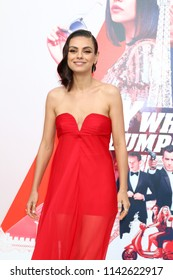 """LOS ANGELES - JUL 25:  Mila Kunis at """"The Spy Who Dumped Me"""" Premiere at the Village Theater on July 25, 2018 in Westwood, CA"""