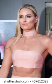 """LOS ANGELES - JUL 26:  Lindsey Vonn at the """"Bad Moms"""" Los Angeles Premiere at the Village Theater on July 26, 2016 in Westwood, CA"""